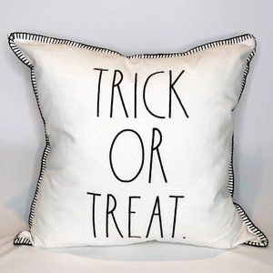 "Rae Dunn Halloween ""TRICK OR TREAT"" Feather Pillow"